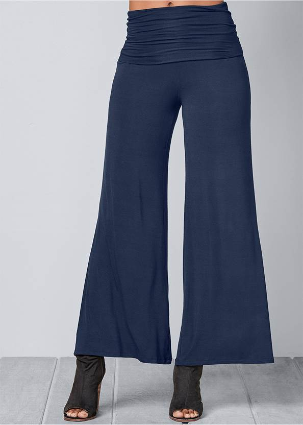 FRONT VIEW Easy Foldover Pants