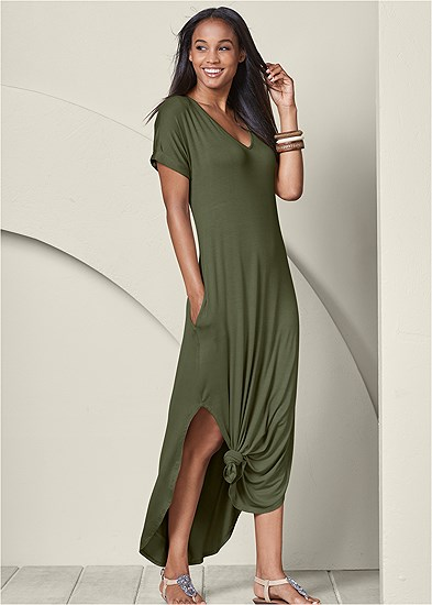 casual t-shirt maxi dress