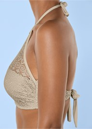 Alternate View Crochet High Neck Halter Top