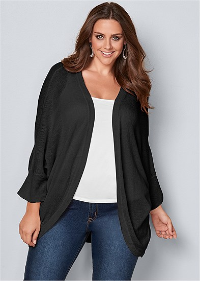 Plus Size Oversized Cardigan