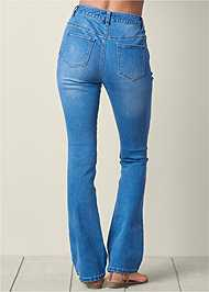 Back view Embroidered Jeans