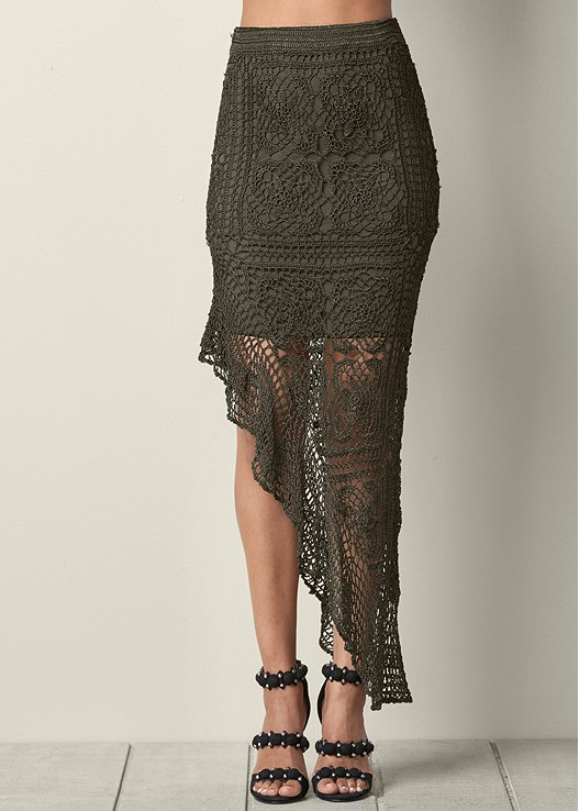 CROCHET MAXI SKIRT,SEAMLESS CAMI