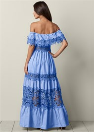 Back View Lace Detail Maxi Dress