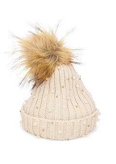 pearl knit beanie