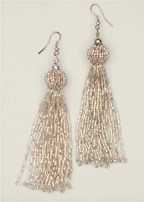 beaded tassel earrings
