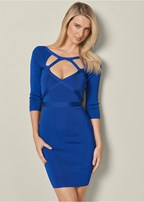 slimming cut out dress