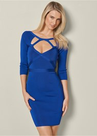 Front View Bandage Cut Out Dress