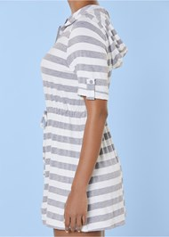 Alternate view Zip Front Hooded Dress