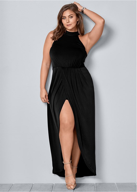 Plus Size LONG DRAPE DRESS | VENUS