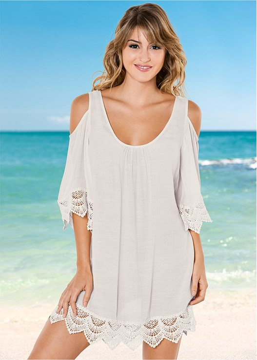 793e403a88ed5 Brazilian Sand COLD SHOULDER COVER-UP from VENUS