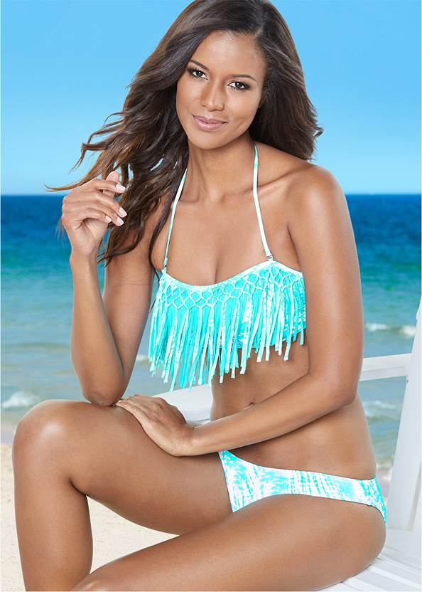 Low Rise Classic Bikini Bottom ,Underwire Halter Bikini Top