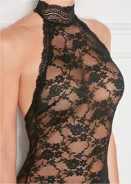 Front view High Neck Sheer Negligee