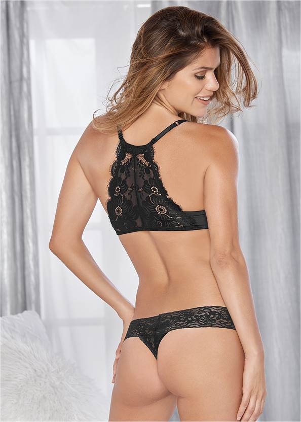 Back view Everyday You Lace Back Bra