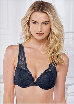 kissable lace push up bra