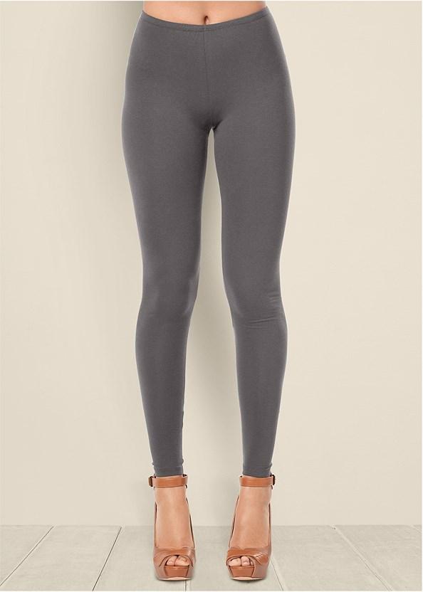 Basic Leggings,Jean Jacket,Block Heel Boots
