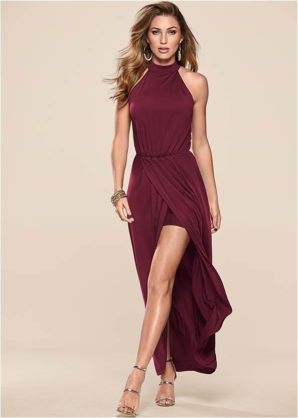 Alternate View Long Drape Dress