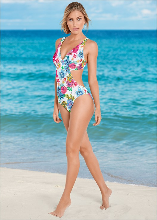 bbad282ac2 Blossoming Brights ANGLED MONOKINI from VENUS