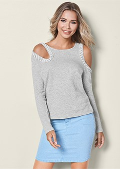 cut out detail sweatshirt