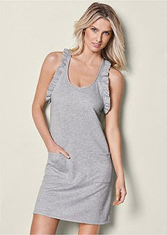 ruffle detail lounge dress