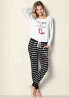 graphic jogger pajama set