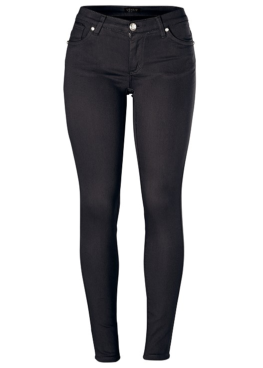 8523e74fad Plus Size COLOR SKINNY JEANS in Black Denim