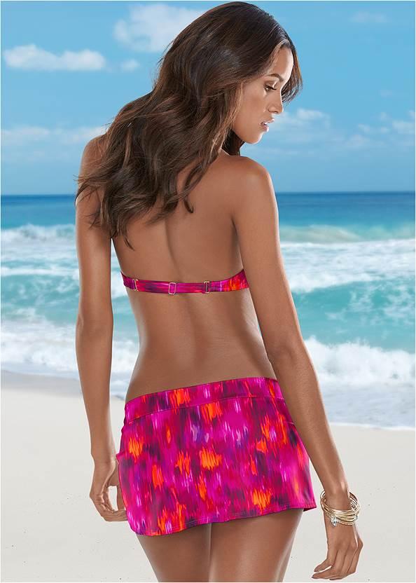 Back view Mid Rise Swim Skirt Bikini Bottom