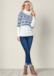 Front view Turtleneck Sweater