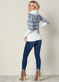 Back view Turtleneck Sweater