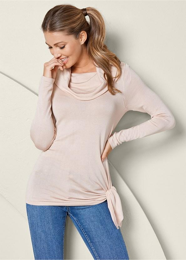 Asymmetric Hem Sweater,Mid Rise Color Skinny Jeans