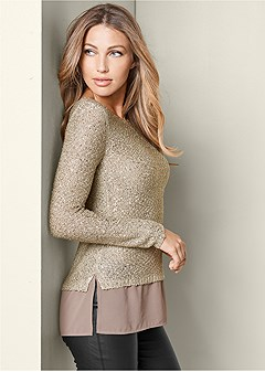 sequin detail sweater