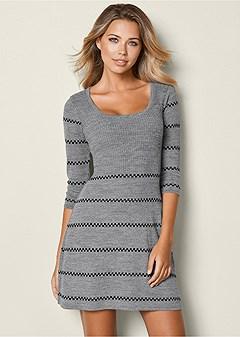 scoop neck sweater dress