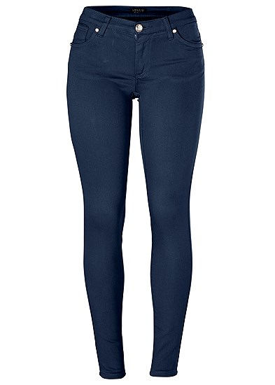 Plus Size Mid Rise Color Skinny Jeans