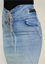 Alternate view Lace Up Jean Skirt