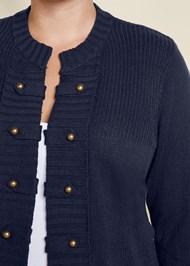 Alternate View Tab Button Detail Cardigan