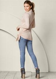 Back view Asymmetric Hem Sweater