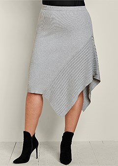 plus size sweater asymmetrical skirt