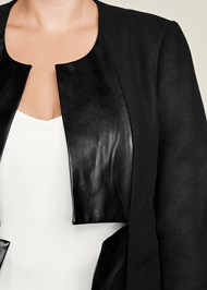 Alternate View Faux Leather Trim Jacket