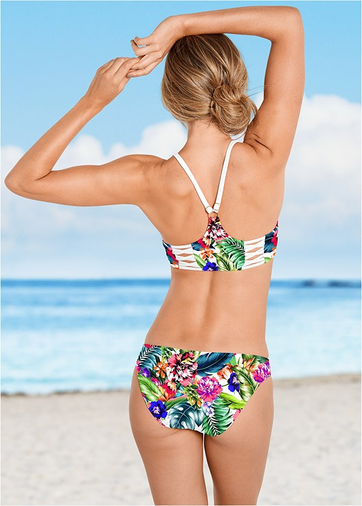 LOW RISE BIKINI BOTTOM,HIGH NECK SPORT BIKINI TOP