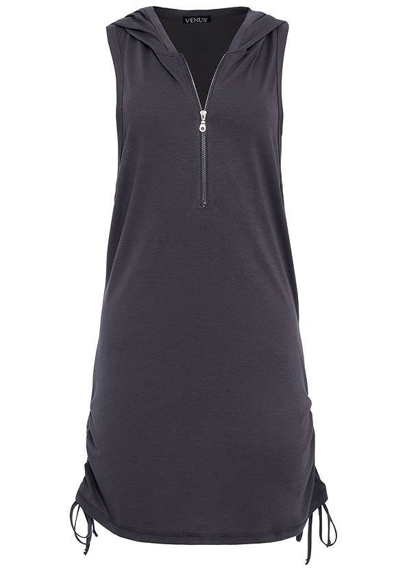 Alternate View Zip Front Hooded Cover-Up