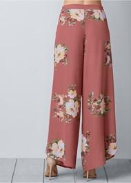 Back view Floral Open Leg Pants