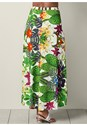 Back view Embellished Print Skirt