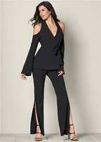 cold shoulder suit set
