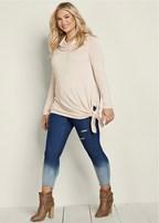 plus size asymmetric hem sweater