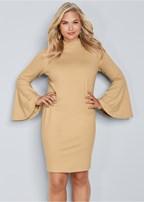 plus size bell sleeve dress