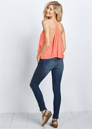 Back view Ruffle Detail Tank