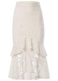 Alternate View Lace Ruffle Midi Skirt