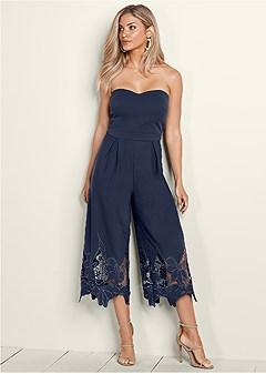 lace detail jumpsuit