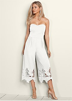 lace detail jumpsuit