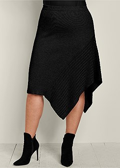 plus size sweater asymmetrical skirt