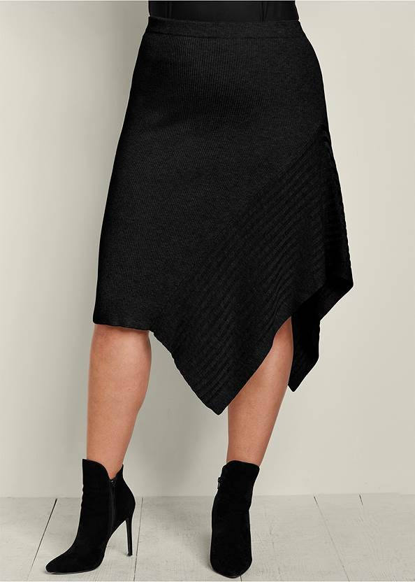 Front View Sweater Asymmetrical Skirt